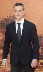 Matt Damon attends The Martian premiere in London