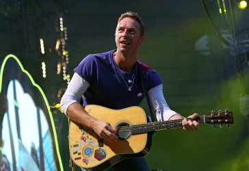 Coldplay performs in concert in Paris