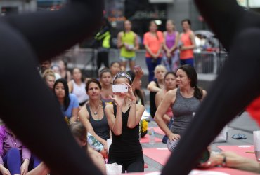 UN's International Day of Yoga in Times Square