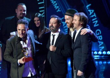 Jorge Drexler, Carles Campi Campon, Jesus Martos and Pablo Martin Jones win Record of the Year at the 19th annual Latin Grammy Awards in Las Vegas