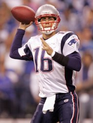 NFL Football Patriots meet the Colts in Indianapolis