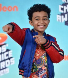 Micah Abbey attends Kids' Choice Awards 2019