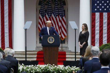 US President Donald J. Trump introduces Judge Amy Coney Barrett as his nominee to be an Associate Justice of the Supreme Court