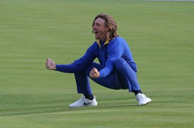 Tommy Fleetwood at the Ryder Cup 2018