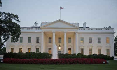 North Side of the White House Prior to Obama Address