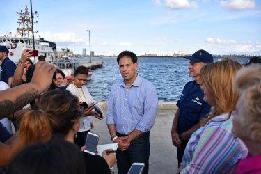 Florida Sen. Marco Rubio Addresses the Media in Puerto Rico