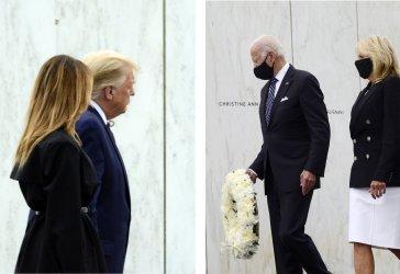 Trump and Biden Both Visit the Flight 93 Memorial in Pennsylvania