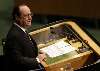 Francois Hollande at the Climate Change meeting at the UN