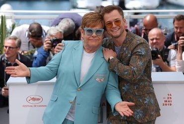 Elton John and Taron Egerton attend the Cannes Film Festival