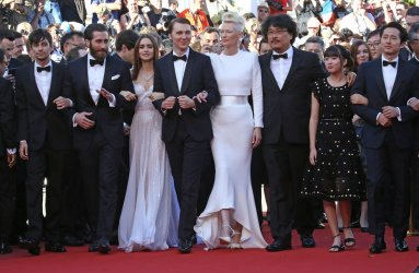 The team from Okja attends the Cannes Film Festival