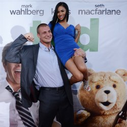 "Rob Gronkowski and Chanty Sok attend the premiere of ""Ted""  in Los Angeles"