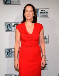 Kathleen Kennedy arrive at the Will Rogers Motion Picture Pioneers Foundation dinner at the 2013 CinemaCon in Las Vegas