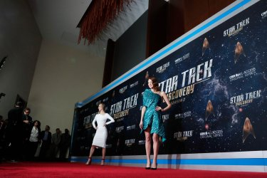 Emily Coutts at the 'Star Trek: Discovery' premiere