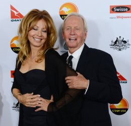 Linda Kozlowski and Paul Hogan attend G'Day USA gala in Los Angeles