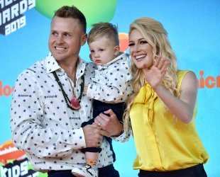 Heidi Montag and family attend Kids' Choice Awards 2019
