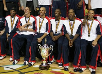U.S.A. OLYMPIC BASKETBALL TEAM ROUTS ARGENTINA TO WIN F.I.B.A. GOLD IN LAS VEGAS