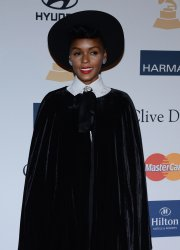 Janelle Monae attends the Clive Davis pre-Grammy party in Beverly Hills, California