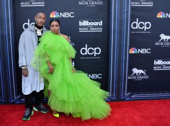 Southside and Yung Miami attend the 2019 Billboard Music Awards in Las Vegas