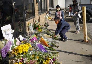 Makeshift Memorial at Aromatherapy after Massacre in Atlanta