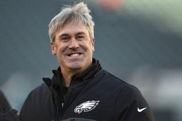 Eagles head coach Doug Pederson smiles