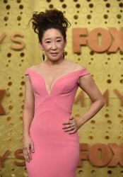 Sandra Oh attends Primetime Emmy Awards in Los Angeles