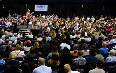Democratic presidential candidate Sen. Elizabeth Warren holds a rally in Miami