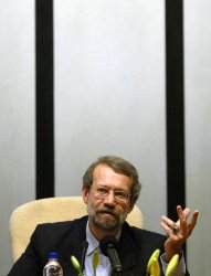 IRAN'S CHIEF NUCLEAR NAGOTIATOR ALI  LARIJANI HOLDS A PRESS CONFERENCE IN TEHRAN