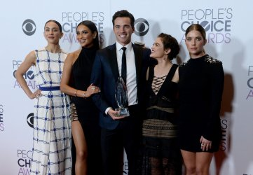 Troian Bellisario, Shay Mitchell, Ian Harding, Lucy Hale and Ashley Benson garners award at the 42nd annual People's Choice Awards in Los Angeles
