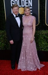 Jesse Plemons and Kirsten Dunst attend the 77th Golden Globe Awards in Beverly Hills