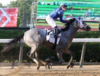 Essential Quality wins the 153rd running of the Belmont Stakes