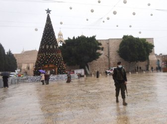 Few People Visit Bethlehem On Christmas Eve