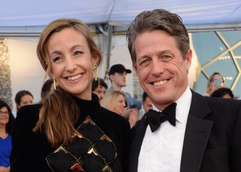 Anna Eberstein and Hugh Grant attend the 23rd annual SAG Awards in Los Angeles