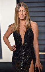 Jennifer Aniston arrives for the Vanity Fair Oscar Party in Beverly Hills
