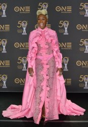 Cynthia Erivo backstage at the 50th NAACP Image Awards in Los Angeles
