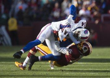 Bills wide receiver Sammy Watkins in tackled