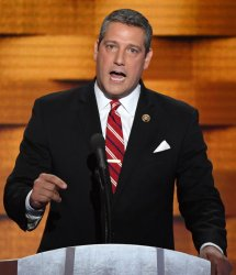 Rep. Tim Ryan addresses delegates at the DNC convention in Philadelphia