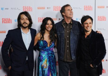 "Diego Luna, Genesis Rodriguez, Will Ferrell and Gael Garcia Bernal attend the ""Casa de mi Padre"" premiere in Los Angeles"