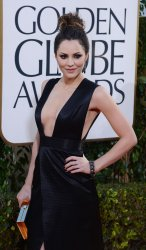Katharine McPhee attends the 70th annual Golden Globe Awards in Beverly Hills, California