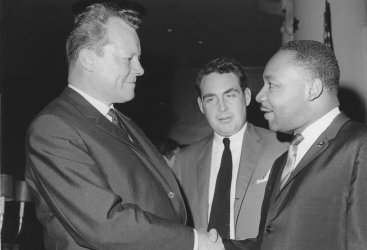 West Berlin Mayor Willy Brandt meets Rev. Martin Luther King in Washington