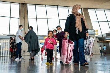 Afghan Refugees Arrive at Dulles Internatioanl Airport