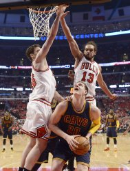 The Cleveland Cavaliers Play the Chicago Bulls in Game 3 of the Eastern Conference Semifinals of the NBA Playoffs in Chicago