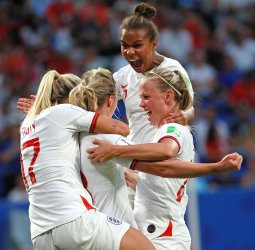 Team USA vs England Semifinal Match at the FIFA Women's World Cup in Lyon