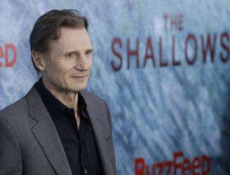 Liam Neeson arrives at The Shallows World Premiere