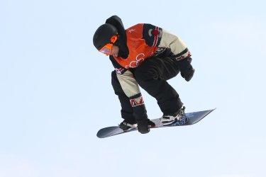 Canada's Nicholson in slopestyle at Pyeongchang 2018 Winter Olympics