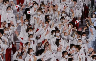 Host Nation Japan Marches in Opening Ceremony