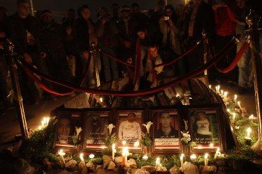 Egyptians Protest Against Government of Hosni Mubarak