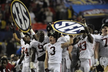 Georgia plays Alabama for the SEC Football Championship in Atlanta