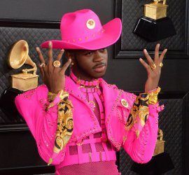 Lil Nas X arrives for the 62nd annual Grammy Awards in Los Angeles