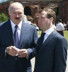 Russian President Medvedev visits the Brest Fortress World War II memorial