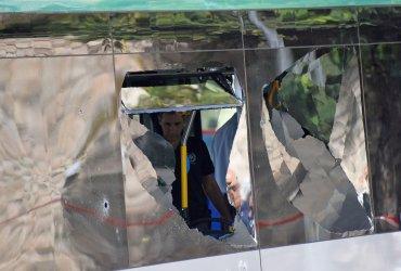 Israeli Emergency Member Inside Bus Of Terror Attack In Jerusalem